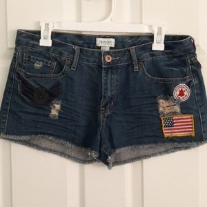 Forever 21 Jean Shorts Patches Size 30